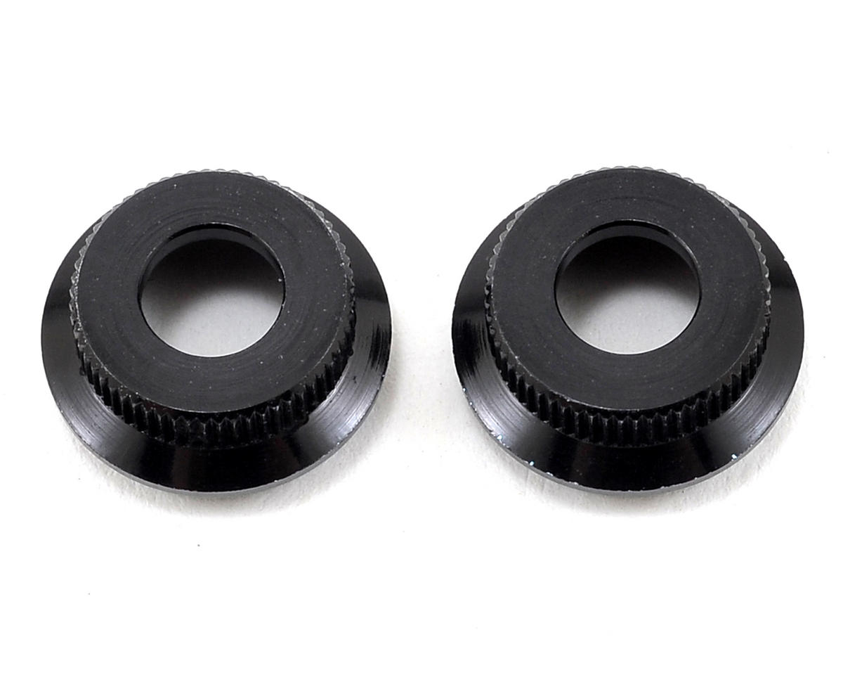 Arrma Aluminum Lower Shock Cap (Black) (2)