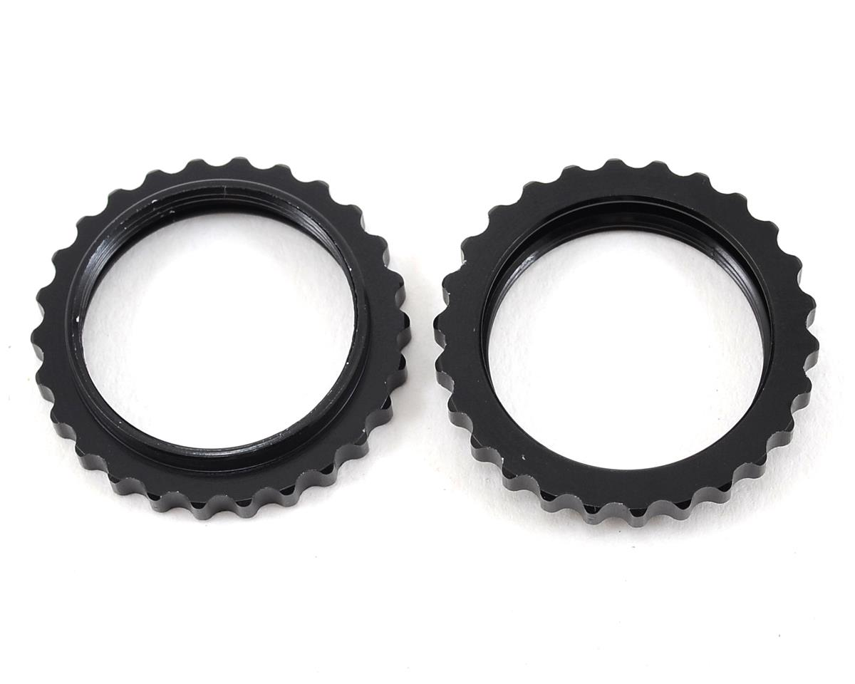 Arrma Aluminum Threaded Shock Collar (Black) (2)