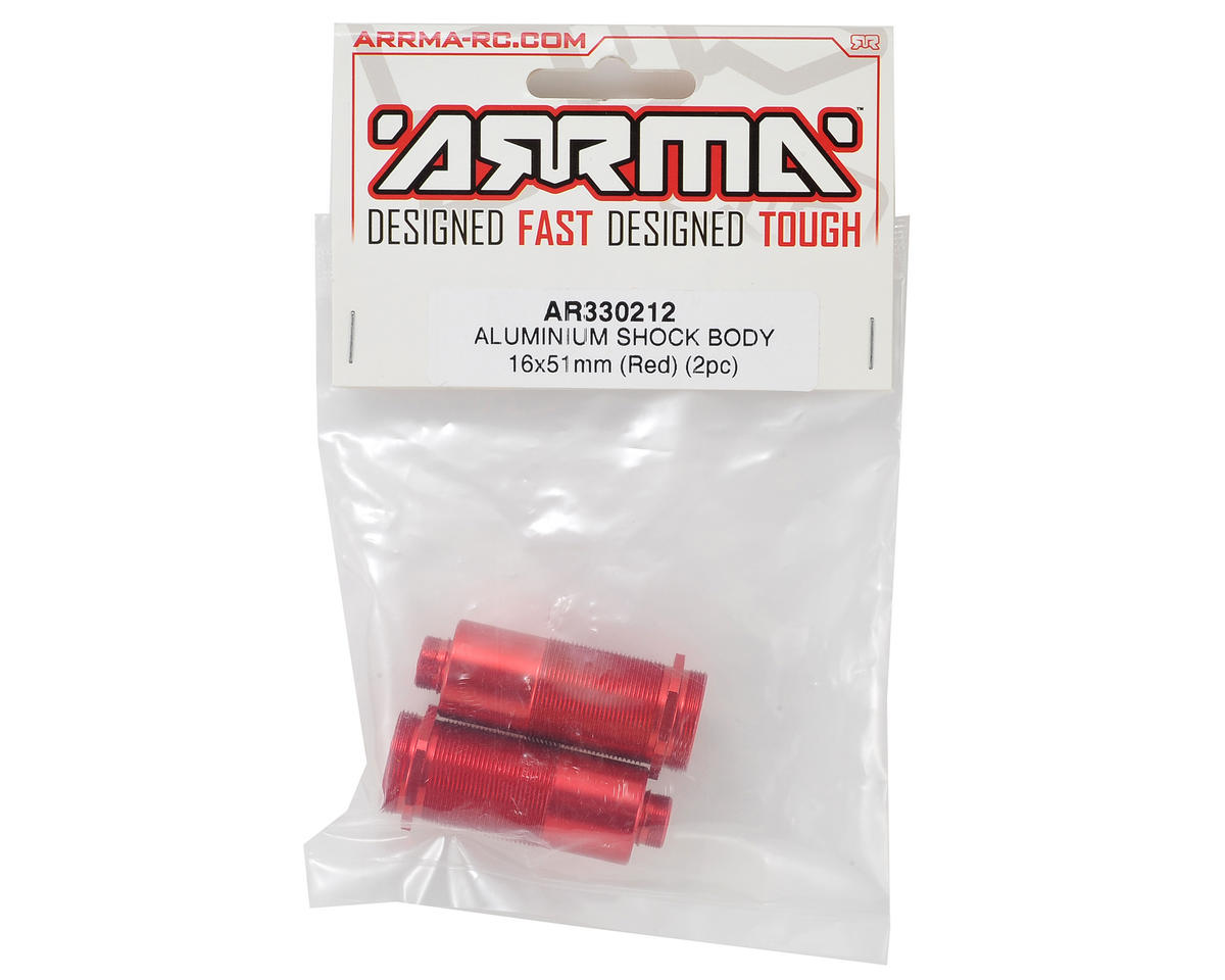 16x51mm Aluminum Shock Body (Red) (2) by Arrma