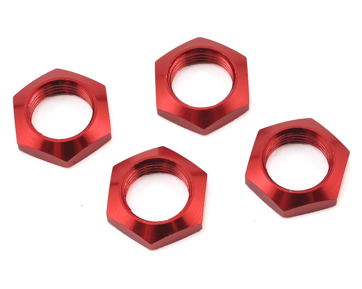 Arrma 17mm Aluminium Wheel Nut (Red) (4)