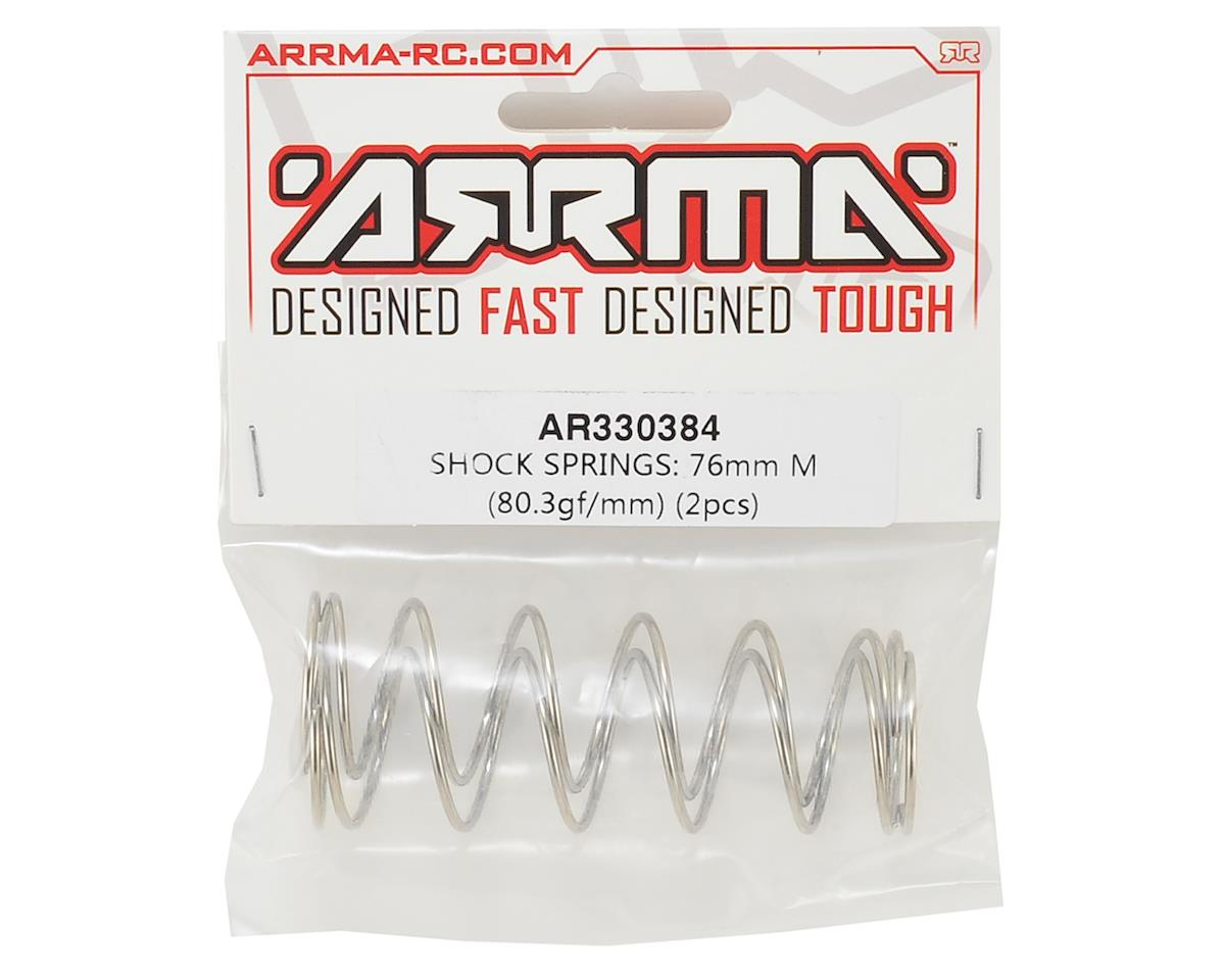 Arrma 76mm Shock Springs (2) (80.3gf/mm)