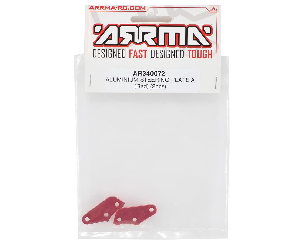 "Arrma Aluminum ""A"" Steering Plate (Red) (2)"