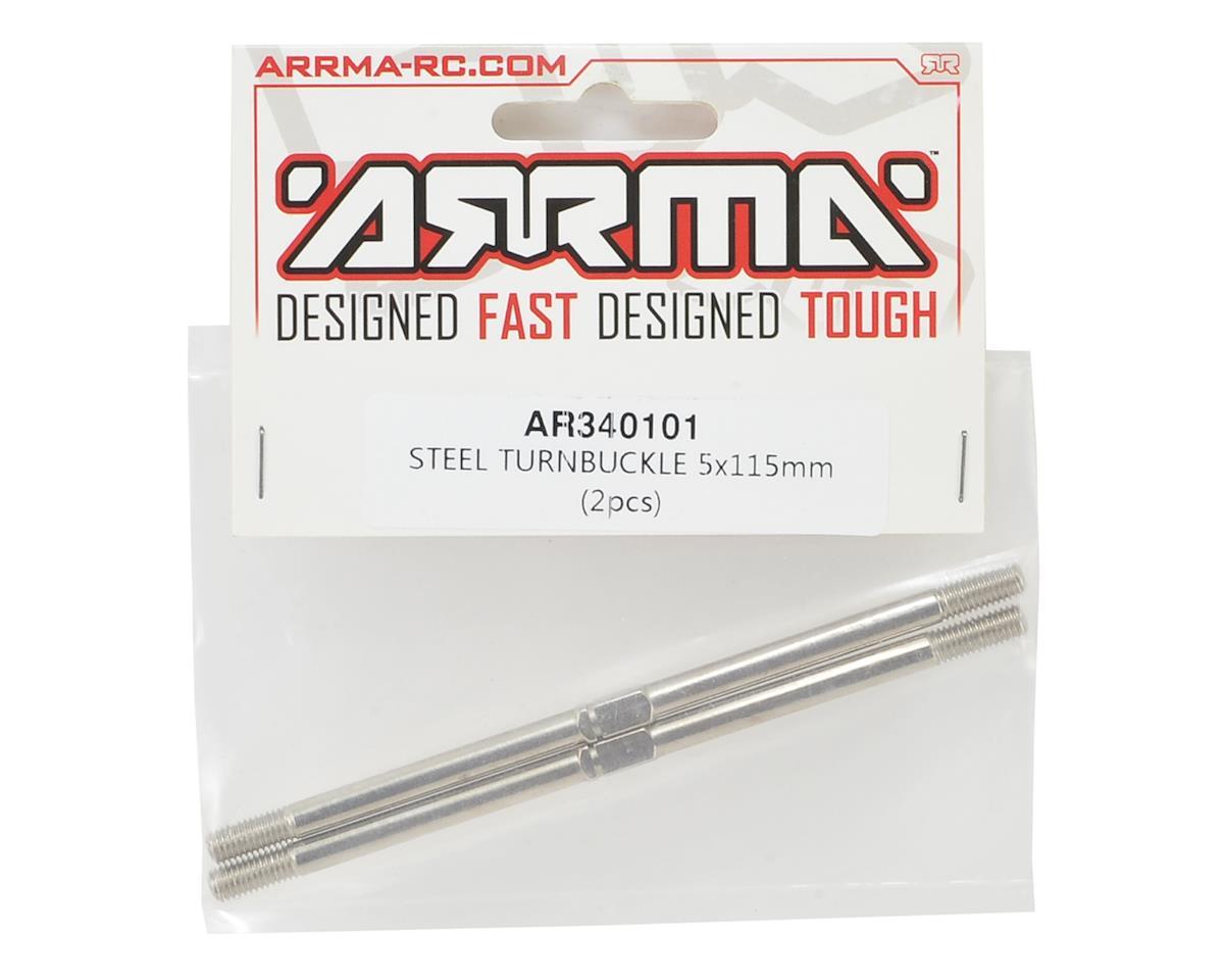 Arrma 5x115mm Steel Turnbuckle (2)