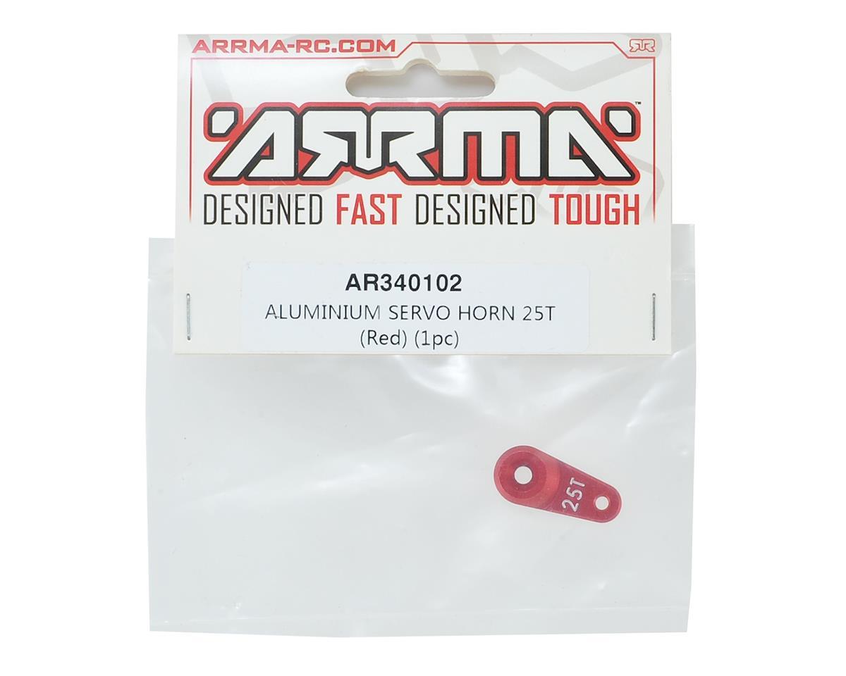 Arrma Aluminum Servo Horn (25T-ProTek/Savox/Futaba) (Red)