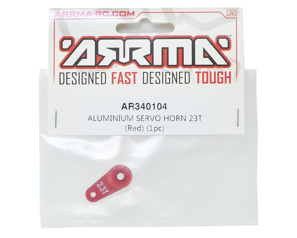 Arrma Aluminum Servo Horn (23T-Sanwa/KO/JR) (Red)