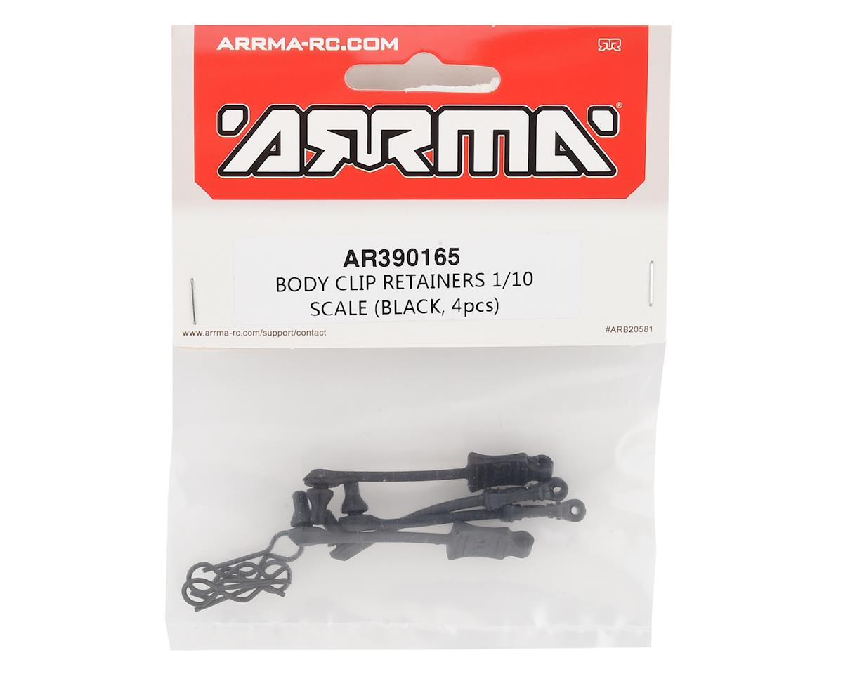 Arrma 1/10 Body Clip Retainer (Black) (4)
