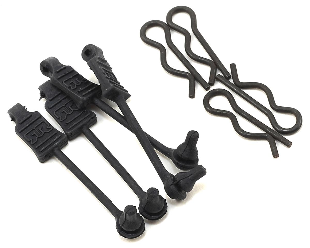 1/8 Body Clips w/Rubber Retainers (Black) (4) by Arrma