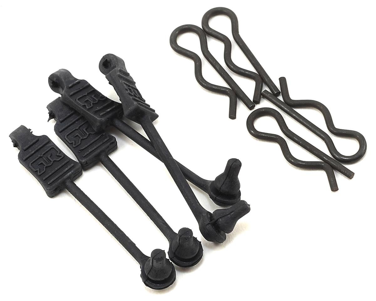 Arrma Outcast 6S BLX 1/8 Body Clips w/Rubber Retainers (Black) (4)