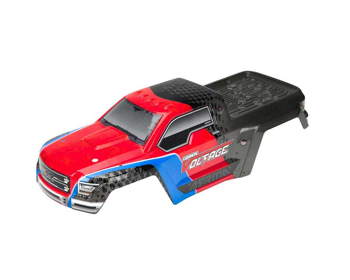 Arrma Body Painted Decaled Granite Red/Black Voltage