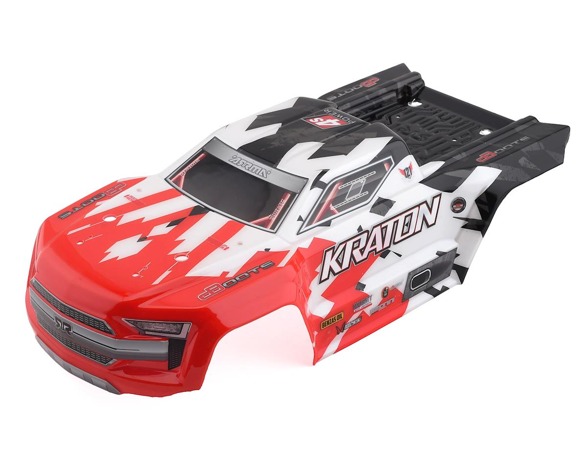 Arrma 4S Kraton 4x4 BLX Pre-Painted Body (Red)