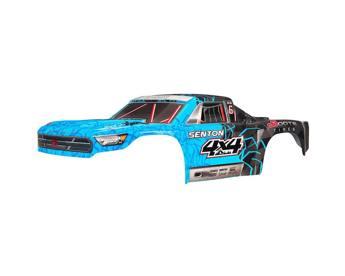 AR402247 Body Painted Decal Trim Blue Senton 4x4 Mega by Arrma