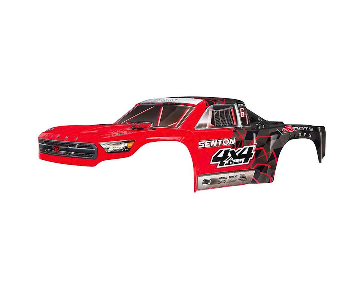 Arrma AR402251 Body Painted Decal Trim Red Senton 4x4 Mega
