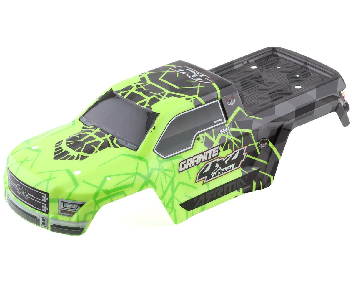 Arrma AR402253 Body Painted Decal Trim Green Granite 4x4 Mega
