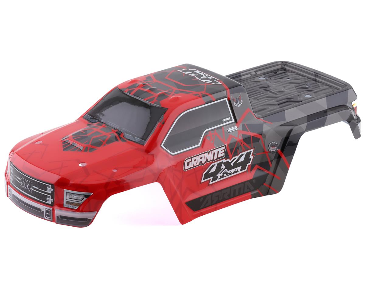 Arrma AR402256 Body Painted Decal Trim Red Granite 4x4 Mega
