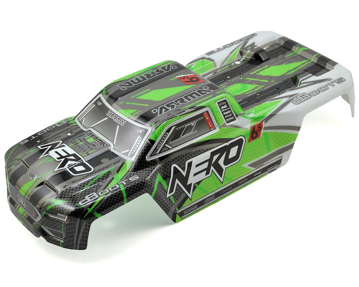 Arrma Nero 6S BLX Pre-Painted Monster Truck Body (Green)