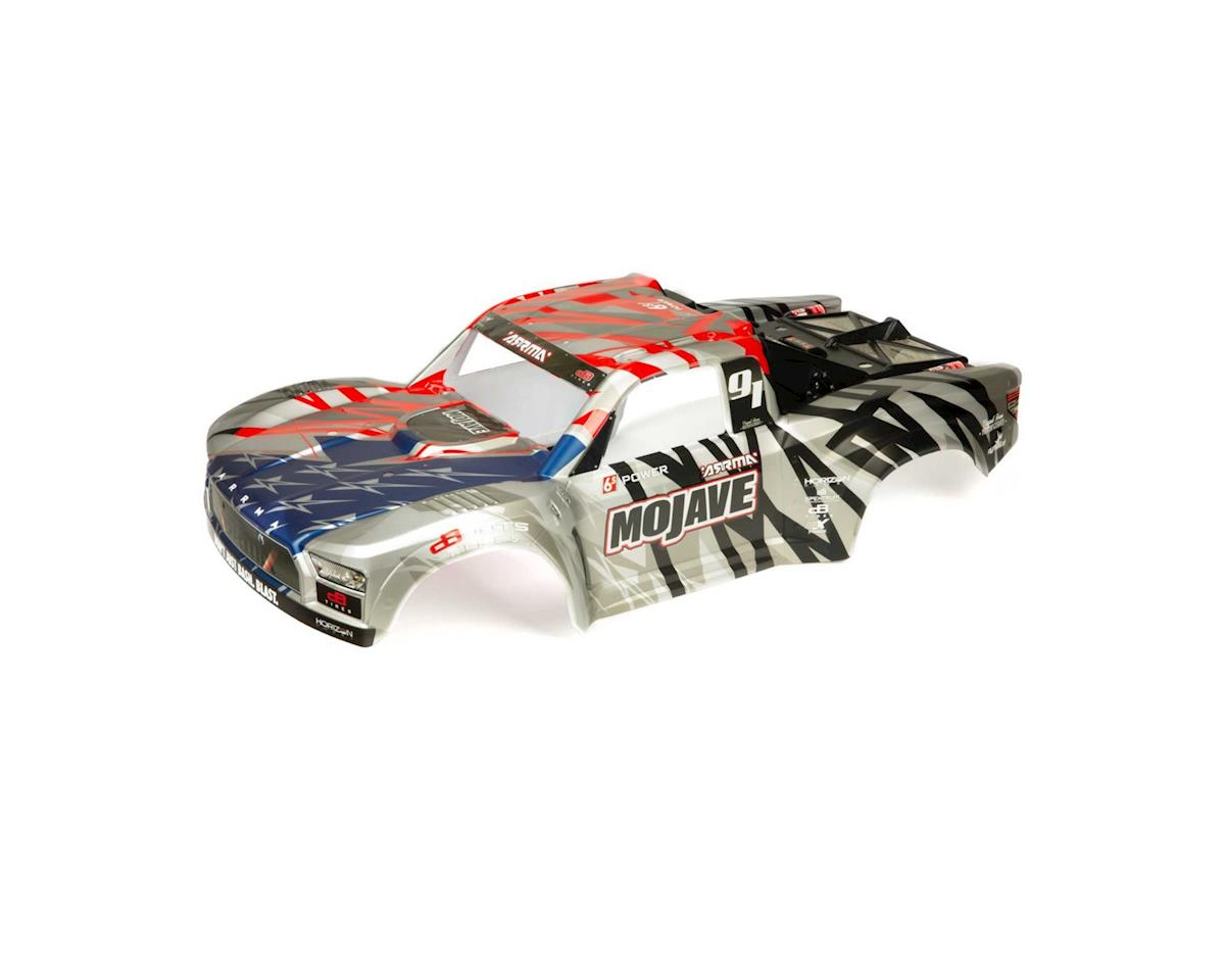 Arrma Mojave 6S BLX Pre-Painted  Body (Sliver/Red)