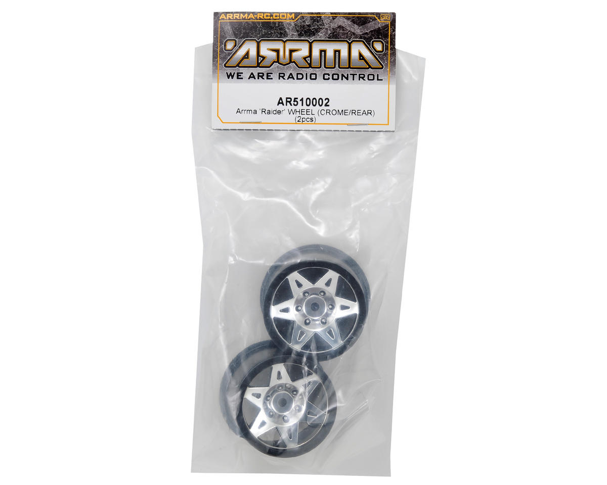Arrma Raider Rear Wheel (2) (Chrome)