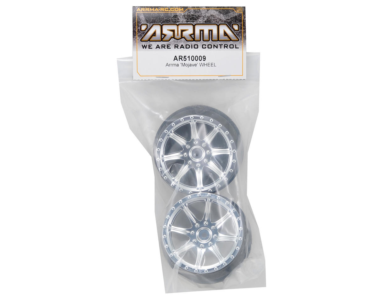 Arrma Mojave Front/Rear Wheel (2) (Chrome)
