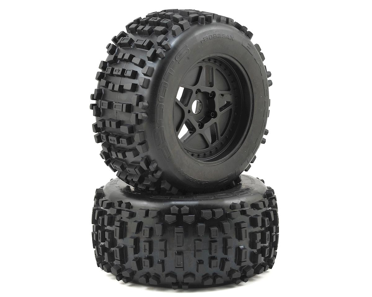 Arrma Outcast 6S BLX Dboots 'Back-Flip Mt 6S' Pre-Mounted Tires (Black) (2)