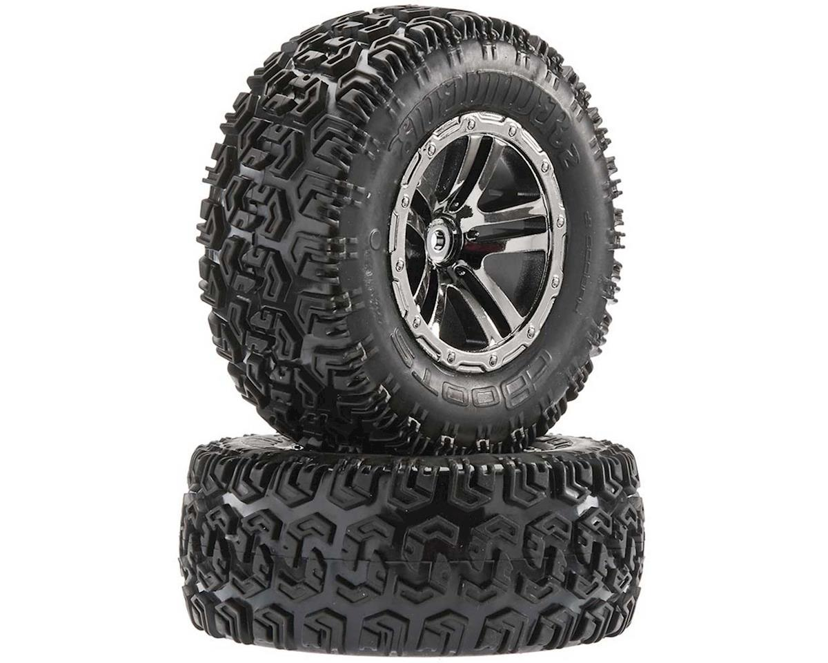 Arrma Sidewinder 2 SC Tire/Wheel Glued Blk/Chrm (2)