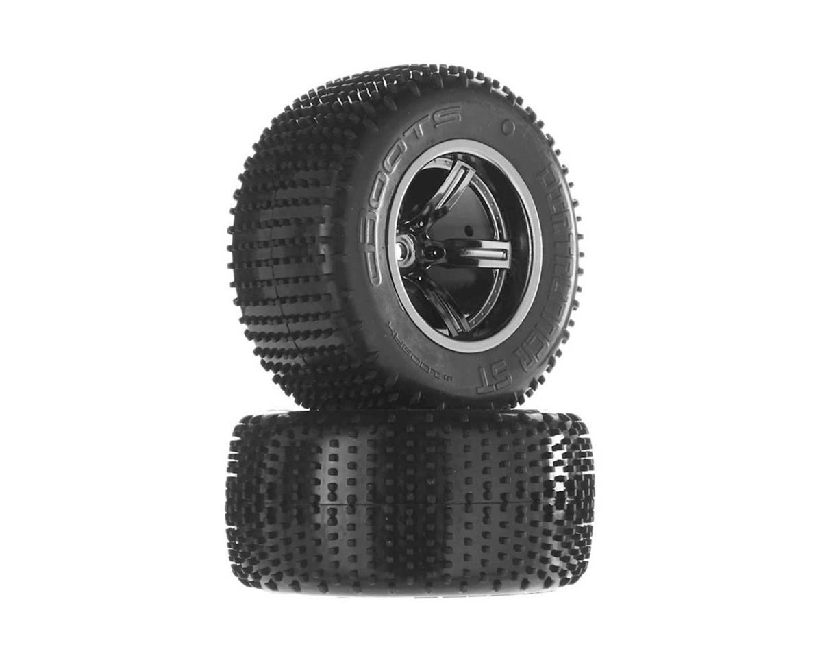 Arrma Dirtrunner ST Tire/Whl Glued Blck/Chrm Re (2)