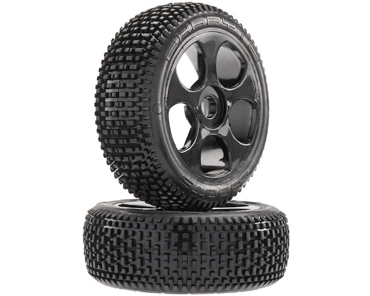 Arrma Exabyte BGY 6S Tire/Wheel Glued Black (2)