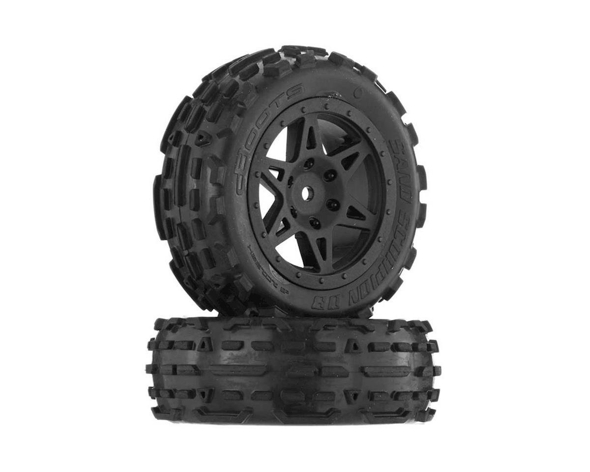 Sand Scorpion DB Tire/Wheel Glued Black Fr (2) by Arrma