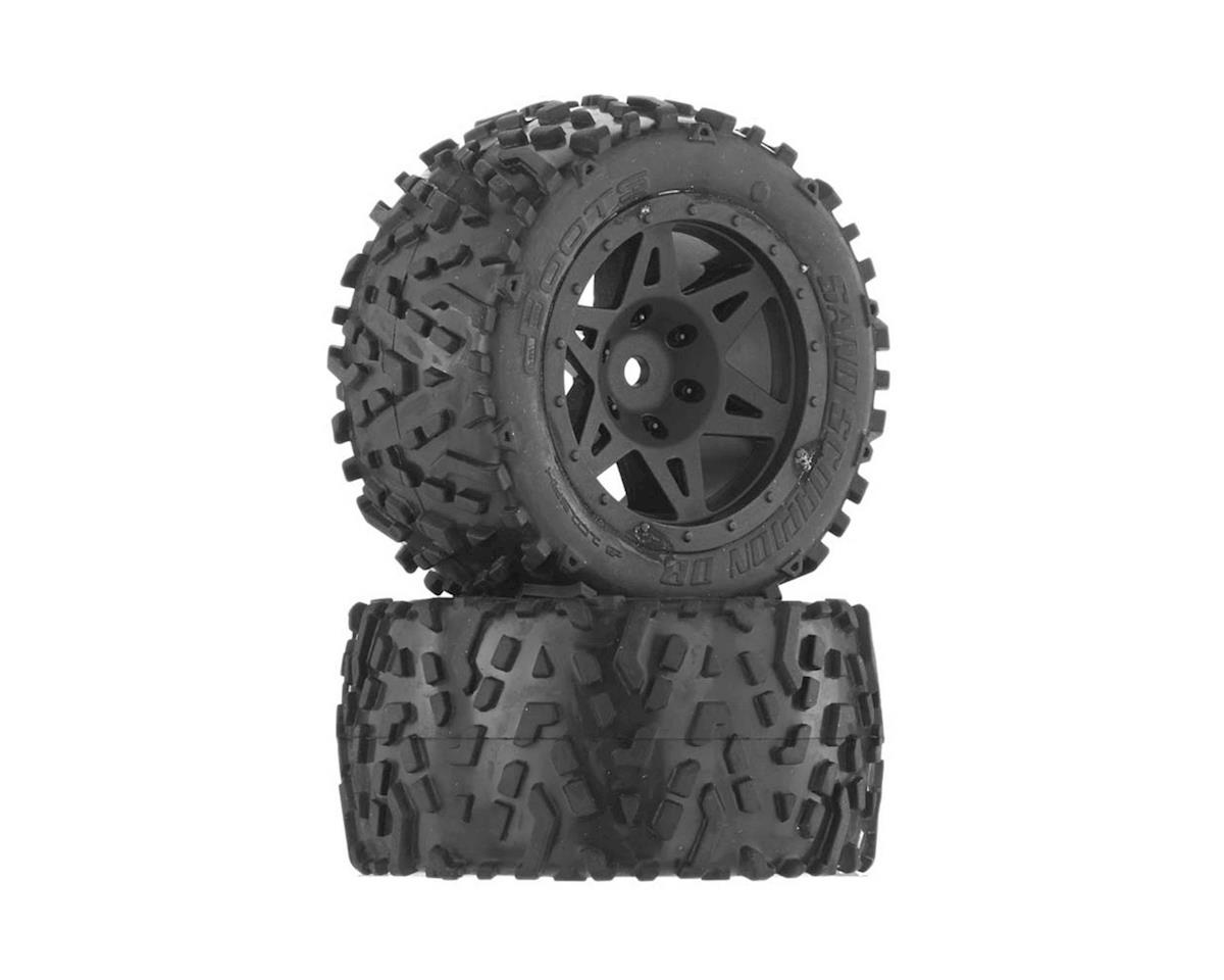 Arrma Sand Scorpion DB Tire/Wheel Glued Black Re (2)