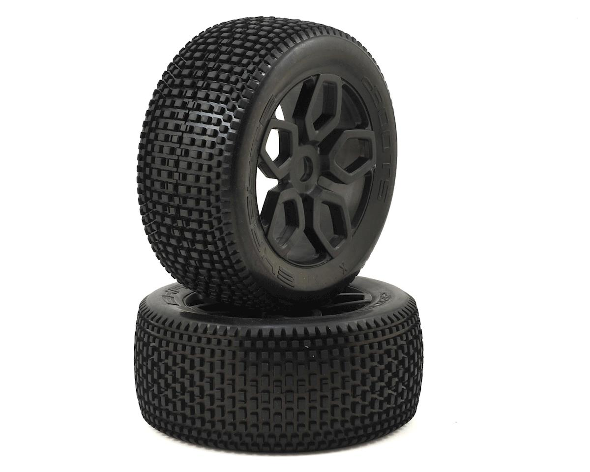 Arrma Outcast 6S BLX 17mm Hex Dboots 'Exabyte NT' Pre-Mounted Tire Set (Black) (2)
