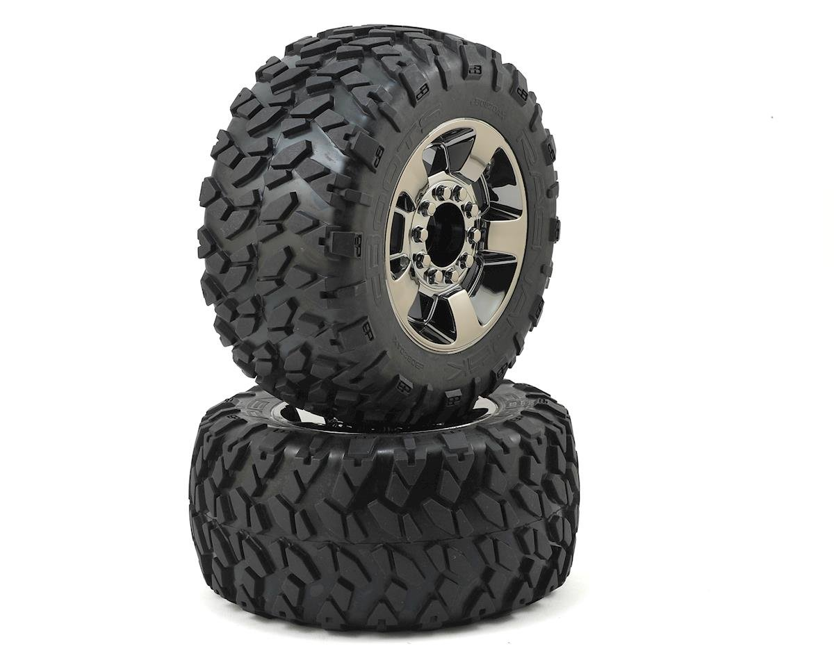 17mm Hex Dboots 'Ragnarok' Pre-Mounted Tires (Black/Chrome) (2) by Arrma