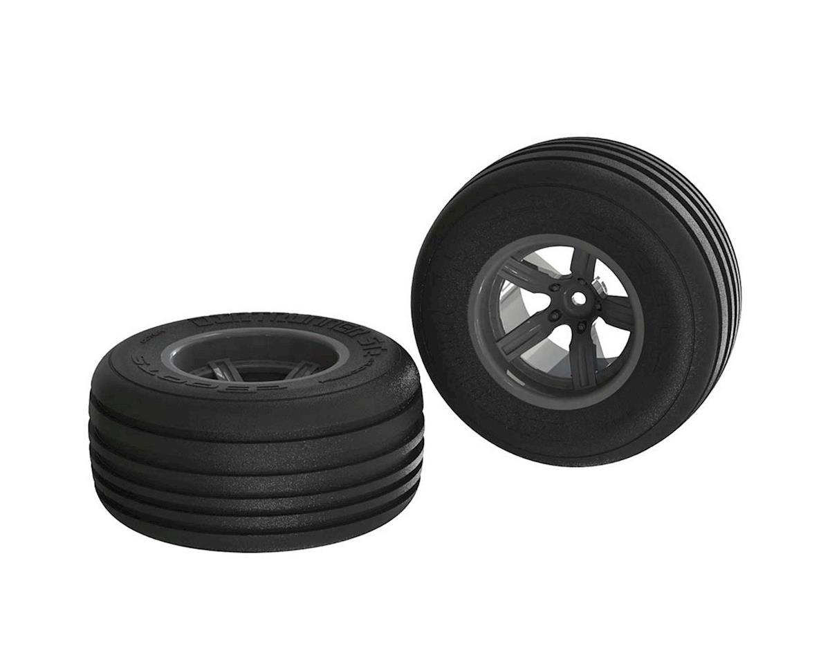 Arrma AR550040 Dirt Runner ST Front Tire Set Glued Black (2)