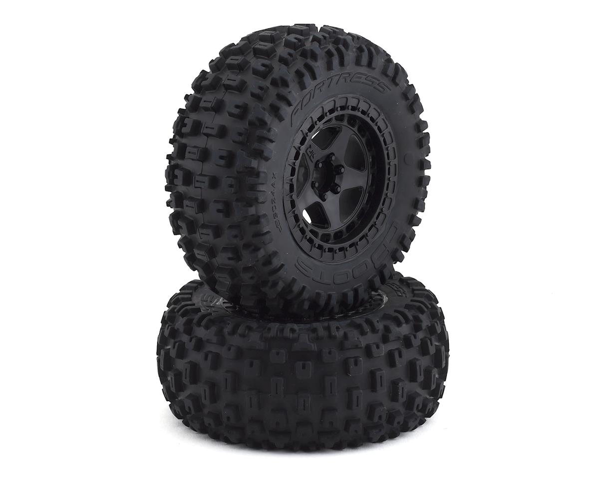 dBooots Fortress SC Tire Set Glued Black (2) (Arrma Senton 4x4 550)
