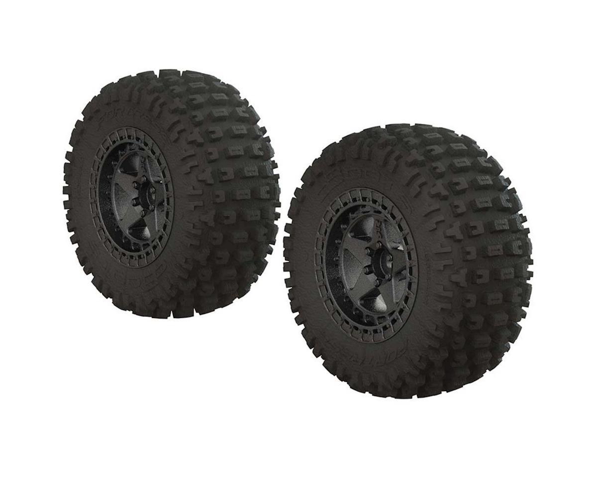 Arrma DBoots Fortress SC Premounted Tire Set (Black Chrome) (2)
