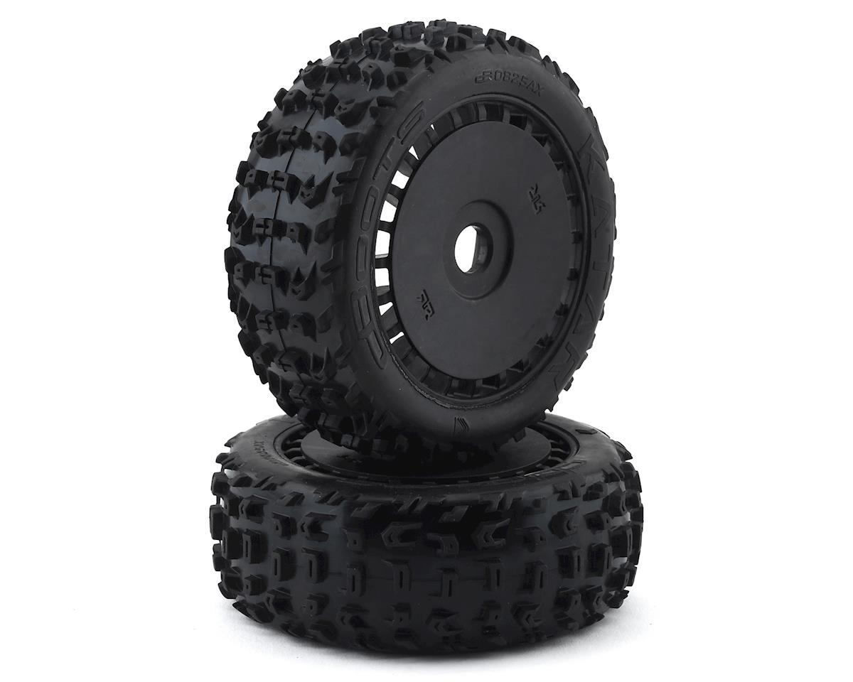 Arrma Pre-Mounted dBoots Katar B 6S Tire/Wheel Set (Black) (2)