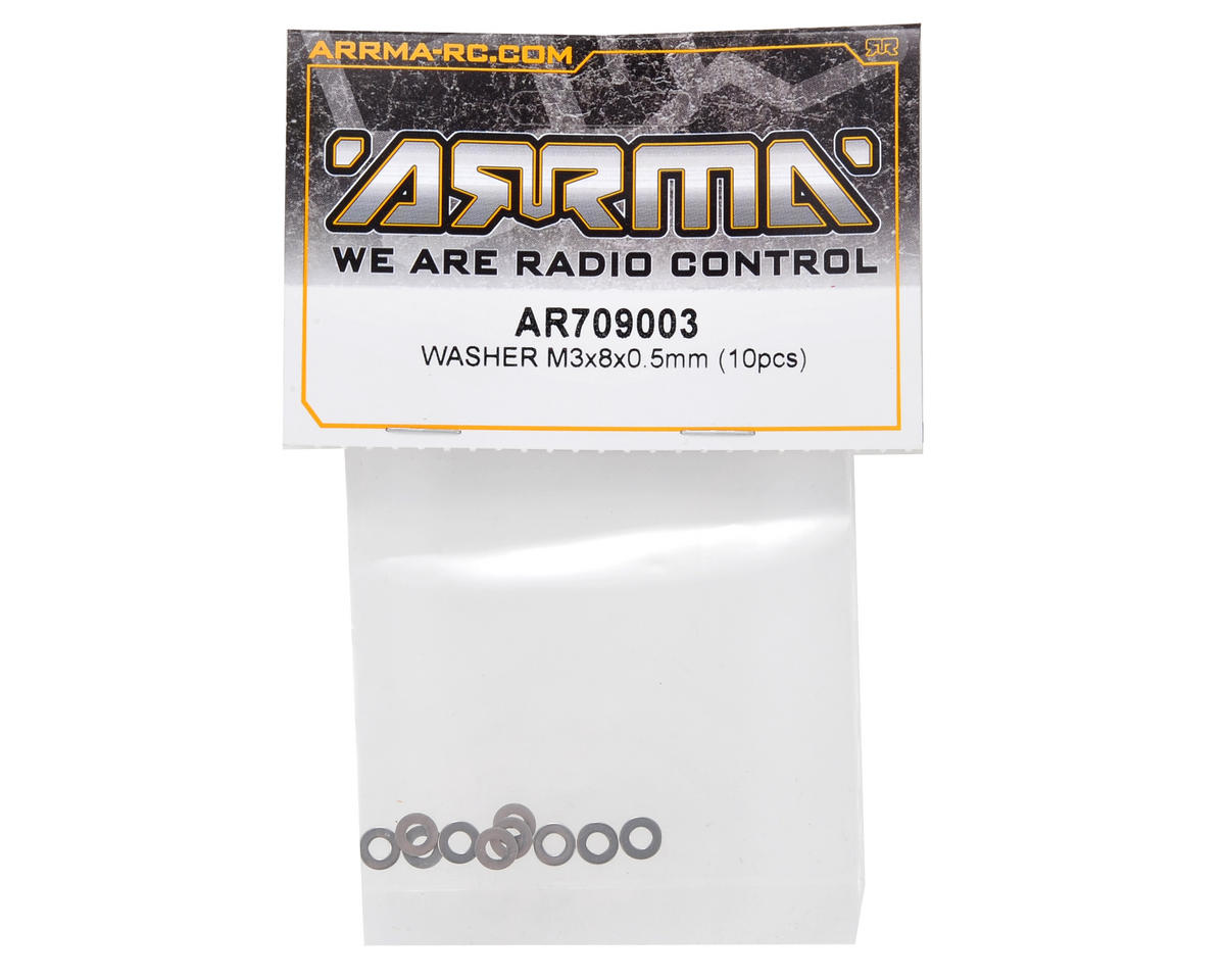 3x8x0.5mm Washer Set (10) by Arrma
