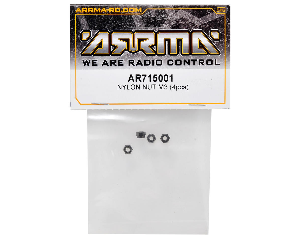 Arrma 3mm Nylon Nut Set (4)