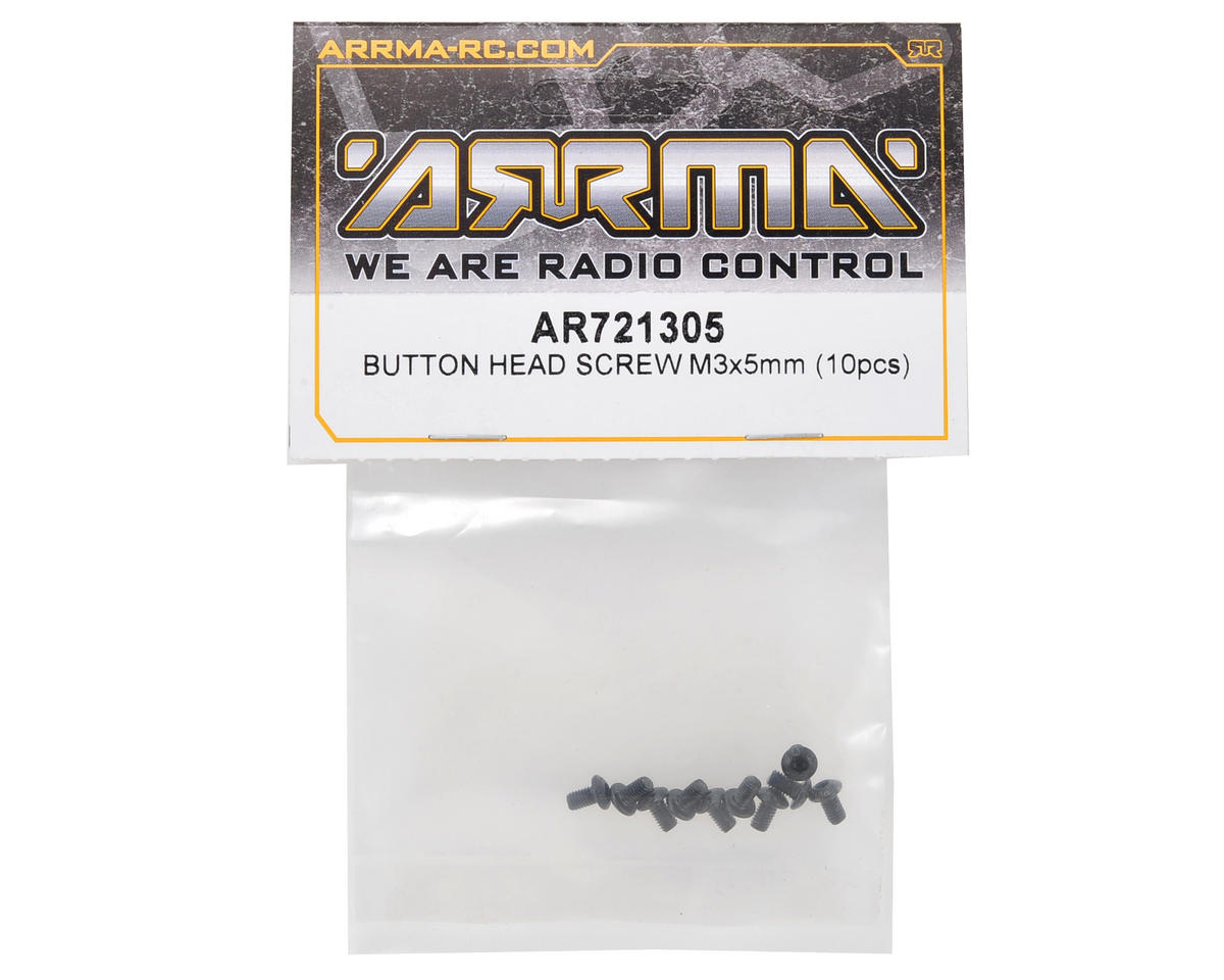 Image 2 for Arrma 3x5mm Button Head Screw (10)
