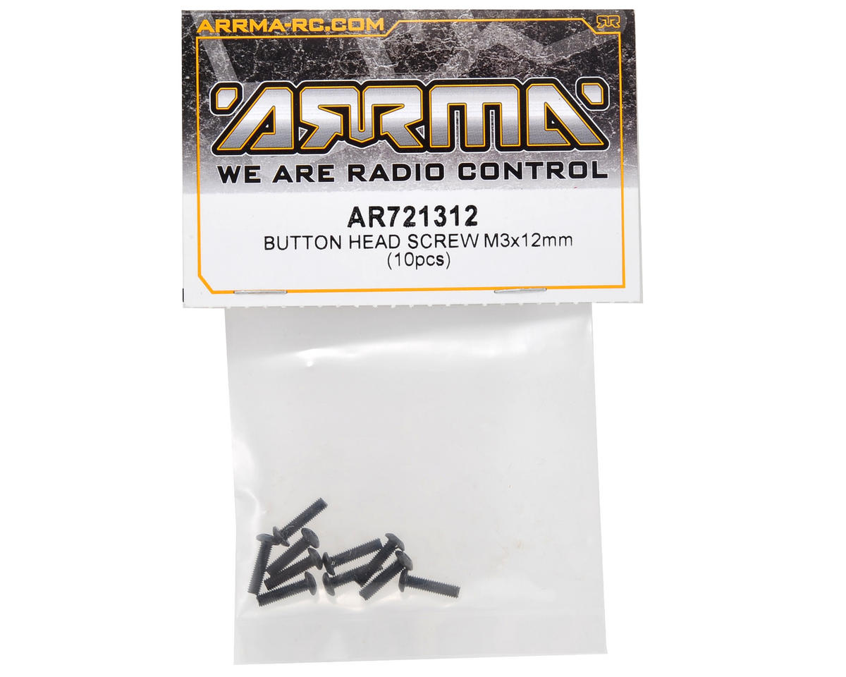 3x12mm Button Head Screw (10) by Arrma