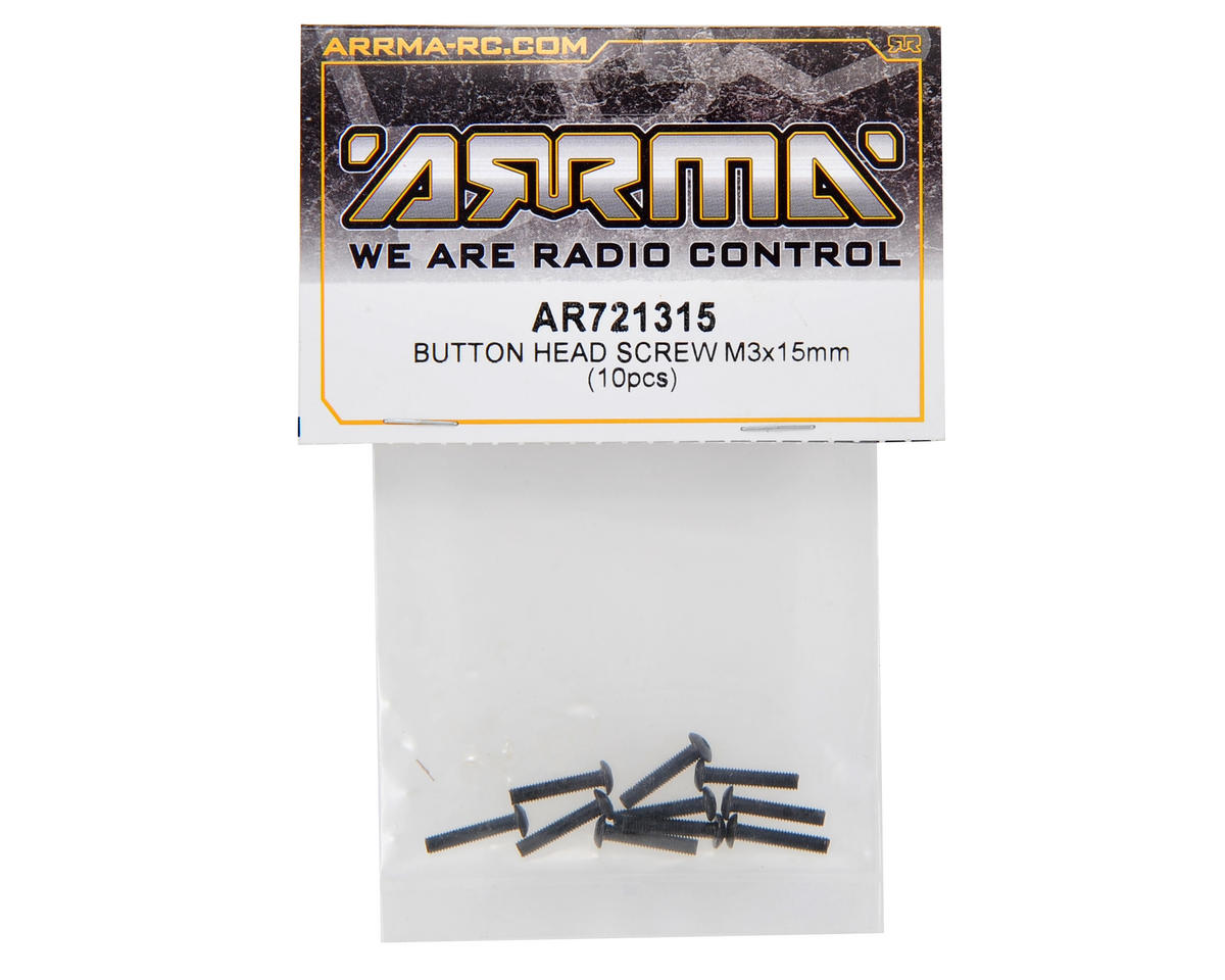 3x15mm Button Head Screw (10) by Arrma