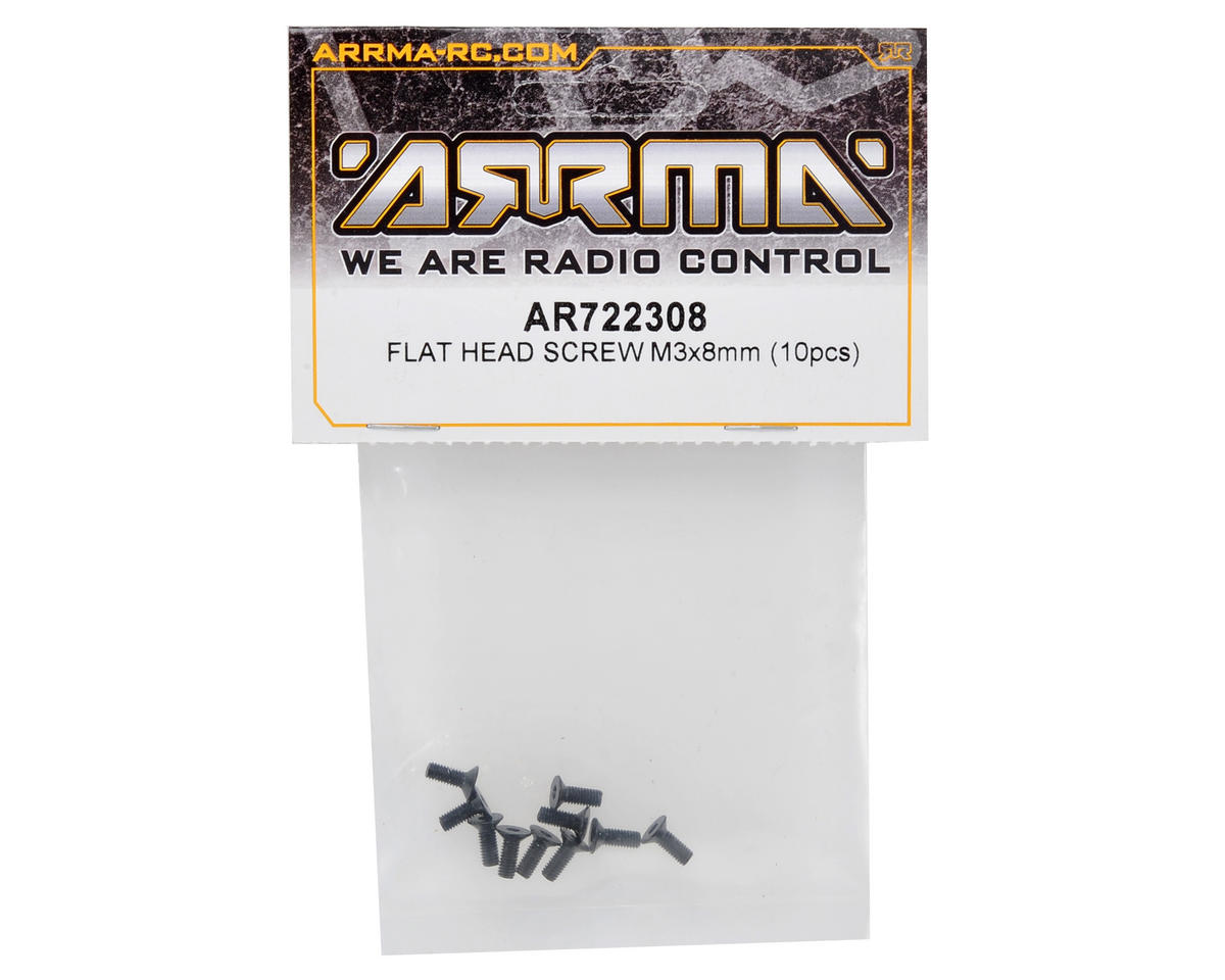 Arrma 3x8mm Flat Head Screw (10)