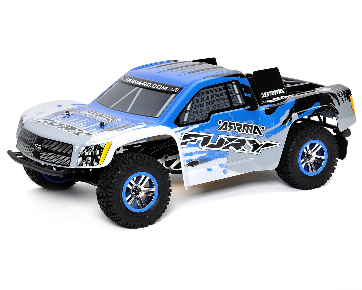 Arrma Fury 1/10 Electric RTR Short Course Truck w/ATX300 2.4GHz, Battery & Charger (Blue)