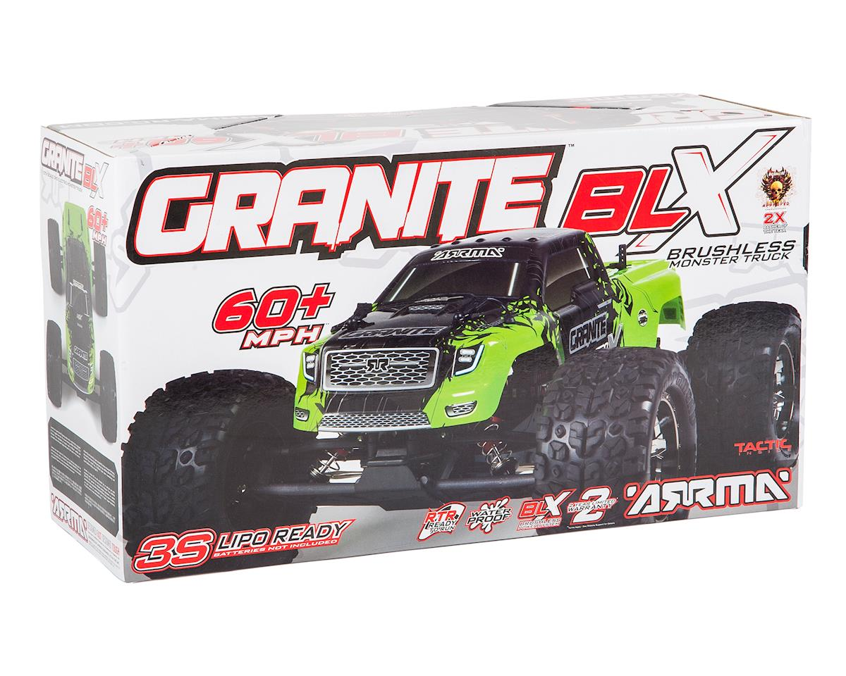 Arrma Granite BLX Brushless 1/10 RTR 2WD Monster Truck (Green/Black)