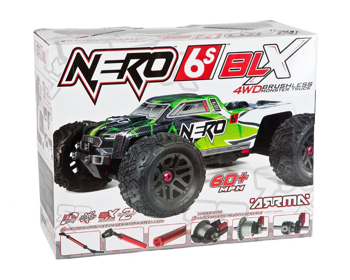 Arrma Nero 6S BLX Brushless RTR Monster Truck (Green/Black)