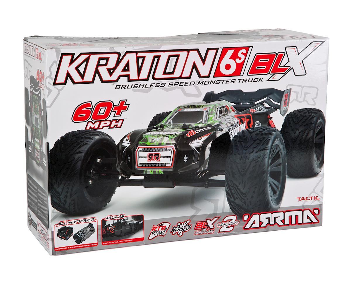 Kraton 6S BLX Brushless RTR 1/8 4WD Monster Truck (Green/Black) by Arrma