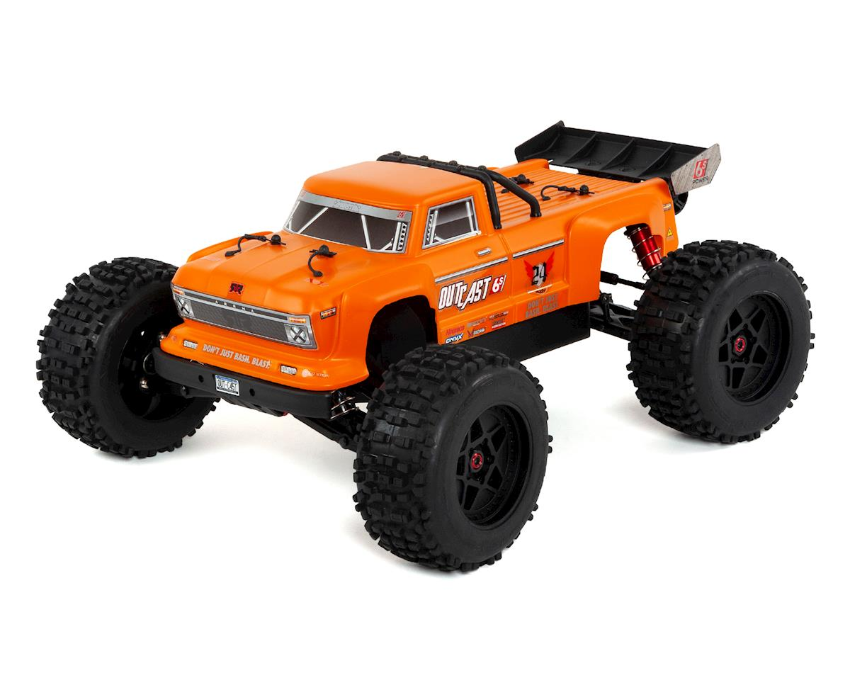 Outcast 6S BLX Brushless RTR Monster Stunt Truck (Orange) by Arrma