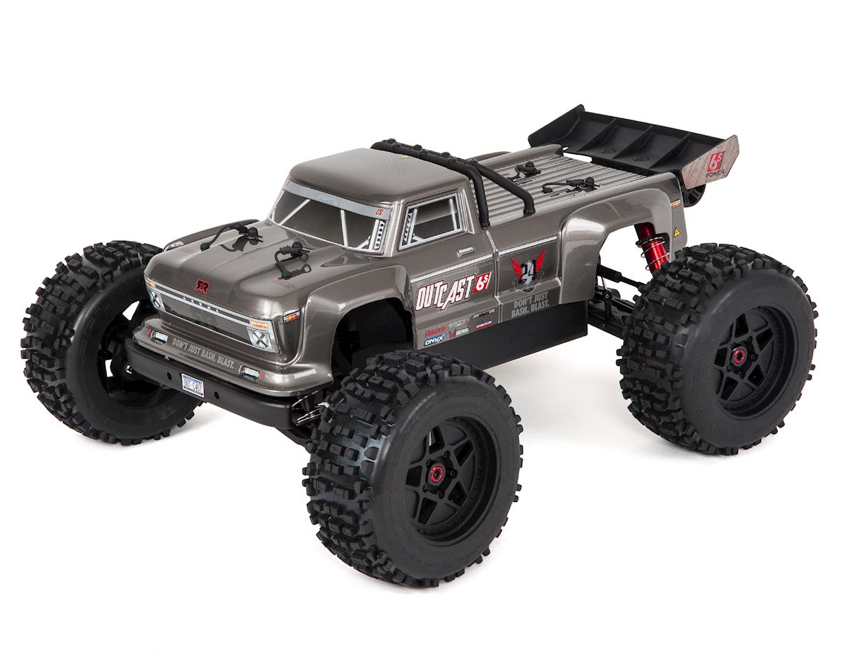 Arrma Outcast 6S BLX Brushless RTR Monster Stunt Truck (Silver)