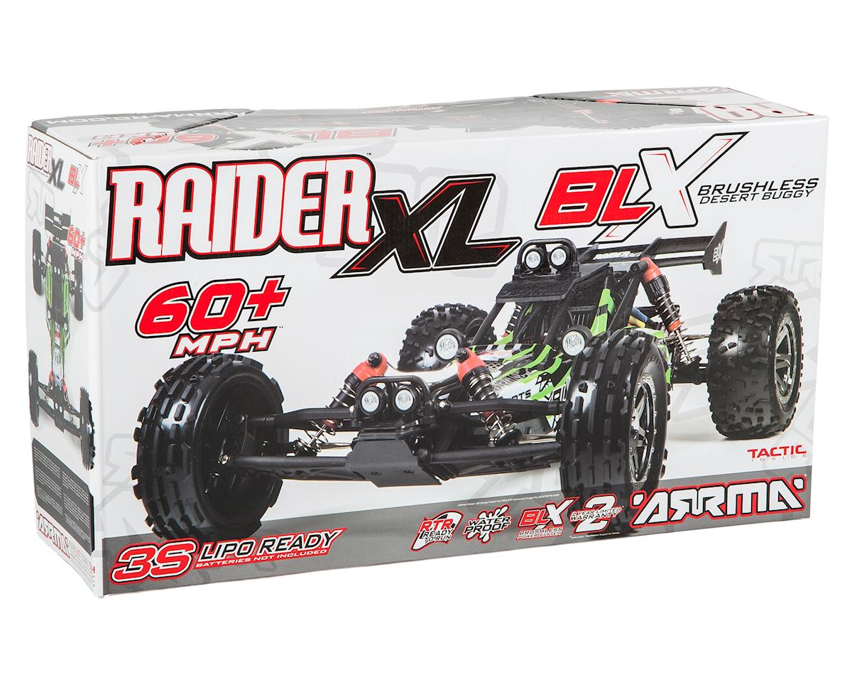 Arrma Raider XL BLX Brushless 1/8 RTR Electric Baja Buggy (Green/Black)