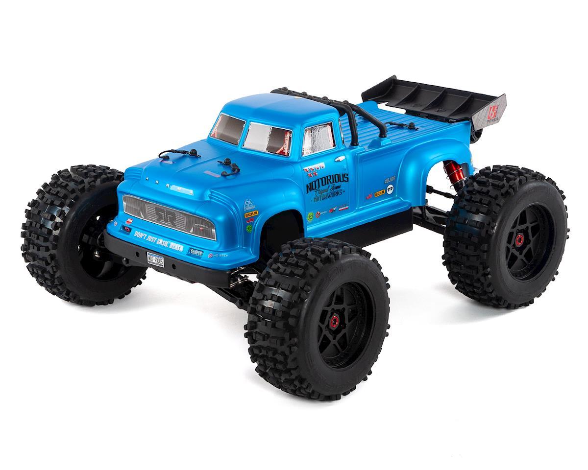 Arrma Notorious 6S Classic BLX Brushless RTR 1/8 Monster Stunt Truck (Blue)