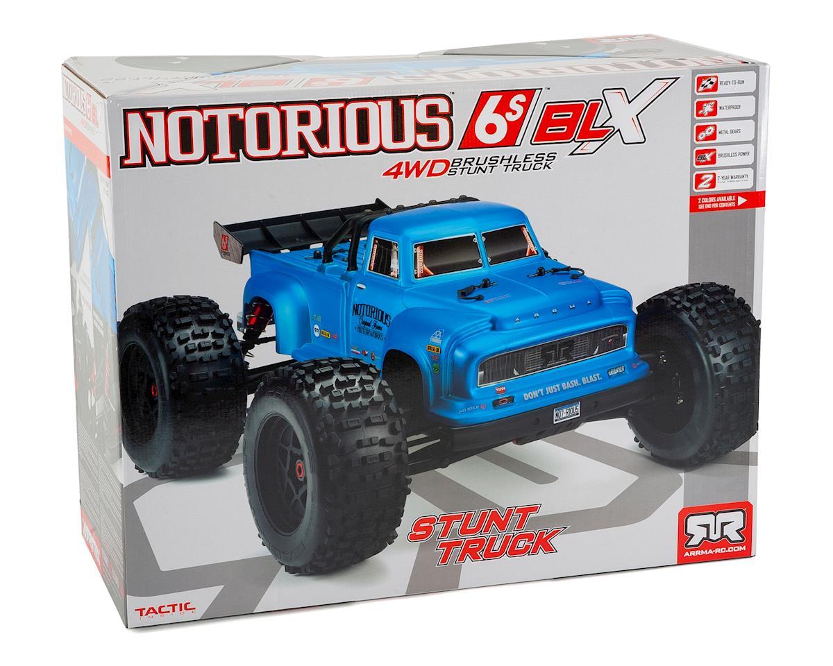 Arrma Notorious 6S Classic BLX Brushless RTR 1/8 Monster Stunt Truck (Black)