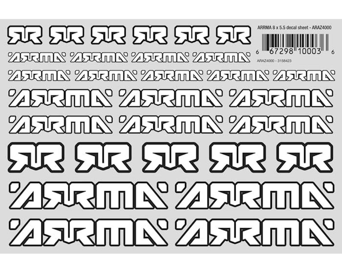 "Arrma 8x5.5"" Decal Sheet"